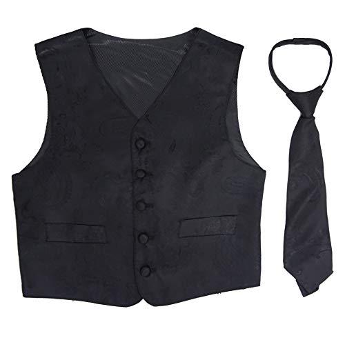 Good shirt TM Chaleco Festivo para niños con Corbata en Rojo o Negro (2 años / 98 cm, Negro)