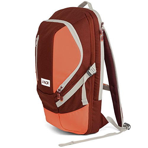 AEVOR Sportspack Sportrucksack für die Uni und Freizeit erweiterbar auf 26 Liter inklusive Laptopfach Red Dusk - korall, Burgund