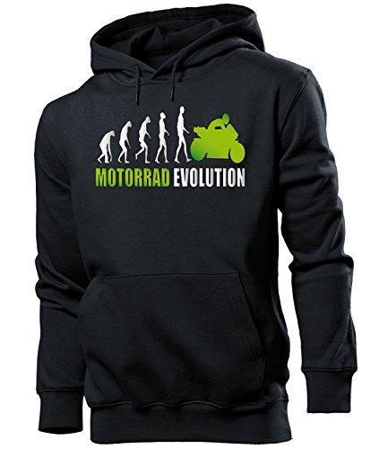 Motorrad Evolution Herren Männer Hoodie Kapuzen Pullover Sweatshirt Pulli Artikel Geschenke Geburtstag zubehör Oberteil kleidung outfit ausrüstung sport fanhoodie fan motorsport biker chopper