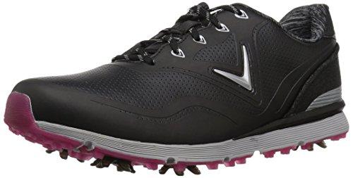 Callaway Women's Halo Golf Shoe, Black, 10 B US