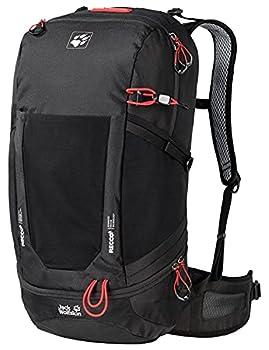 Jack Wolfskin Kingston Lot de 30 sacs à dos de randonnée ventilés Recco Unisexe Taille unique noir
