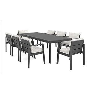 ARTELIA Rosario XL Gartenmöbel Essgruppe Aluminium 8 Personen Esstisch Set für Garten, Terrasse, Premium Terrassenmöbel…