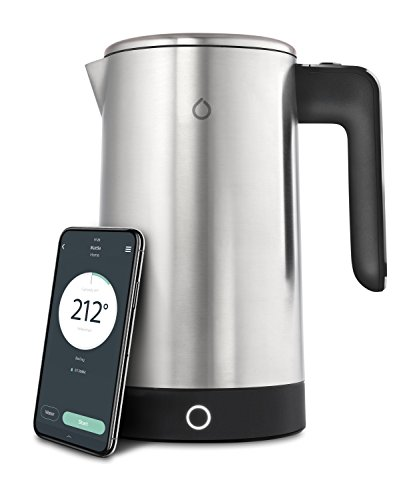 Everything you would expect from a high end kettle with temperature setting capabilities. But this one has an App so you can control it from your smartphone which takes this model into a different league. Providing you've filled it first, you can use your smartphone to set the temerature and switch the kettle on then the App tells when the water's ready. But that's not all; you can use you app as an alarm clock to switch the kettle on first thing in the morning. It also knows when you're coming home and can get the water ready for you when you arrive. An amazing design - the future is here.