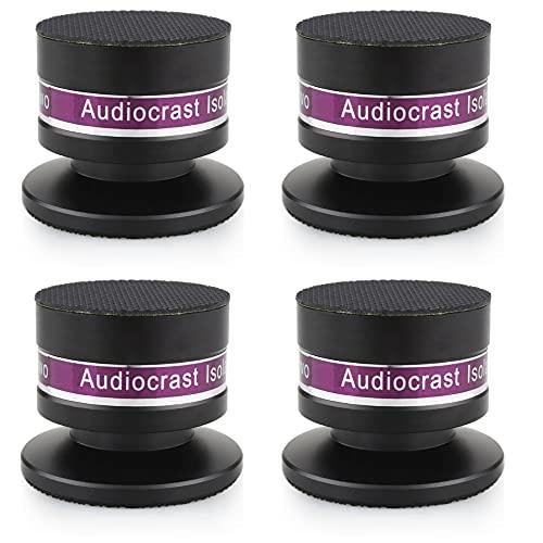 Audiocrast 4 Pcs Aluminium Spikes-Set Lautsprecher Isolation Stand Boxenspikes für Lautsprecher,CD-DVD-Player,Plattenspieler usw. (Schwarz)