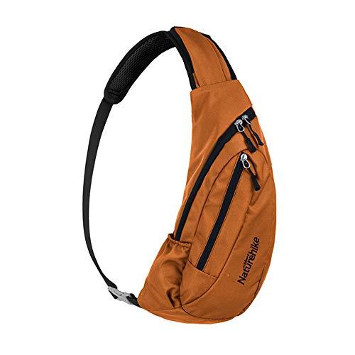 Naturehike Unisex Reisen Sling Bag Schulterrucksack Umhängetasche Daypack Crossbody Bag Verstellbarem Schultergurt Perfekt für Wandern Radfahren(Orange)