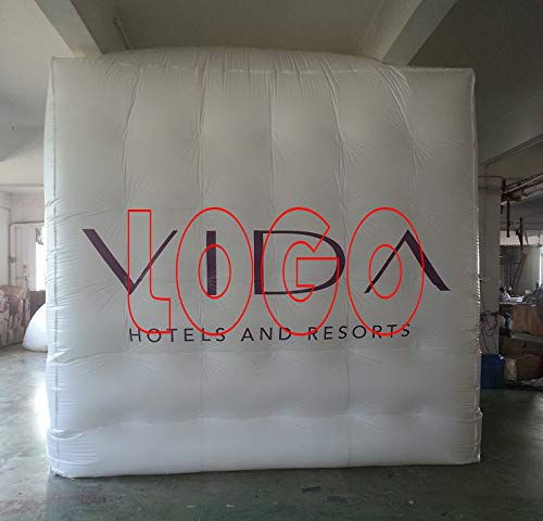 Affordable advertising inflatable cube balloon logo four sides advertising 2x2x2m