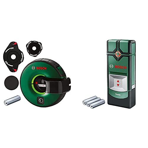 Bosch Linienlaser Atino (1,5 m Arbeitsbereich, horizontales oder vertikales Nivellieren) & Ortungsgerät Truvo (für Metall & stromführende Leitungen in 70/50 mm Erfassungstiefe; 3x AAA Batterien)