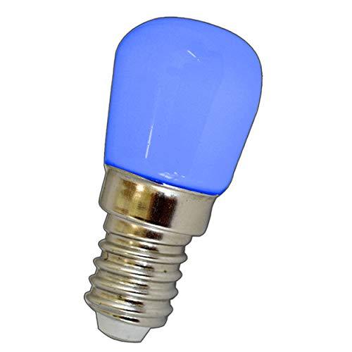 E14 LED Lampe 1,5 Watt blau/Blaulicht für den Kühlschränke/Lampen uvm. - E14/SES Leuchtmittel Kühlschrank Birne Glühbirne Ersatz
