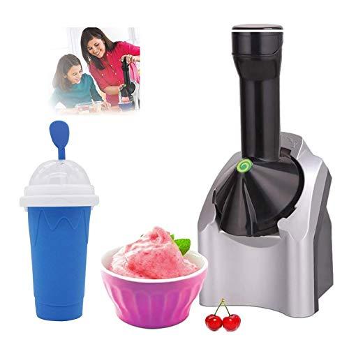 KCSds Fabricante de postre congelado,máquina de helado de sirviente de frutas,uso doméstico portátil,máquina de yogur congelada electrónica con temporizador de cuenta regresiva,utilizado para hacer yo