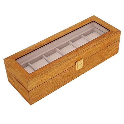 Holzmaterial Uhr Aufbewahrungsbox Holzuhrbox Spezielles Flanell Hardware Zubehör Vierkantschloss Lange Lebensdauer Staub verhindern