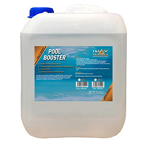 INOX® Pool Booster, 10L - Poolreiniger Algenentferner Pooldesinfektion