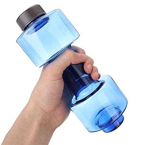 XIANNVV Taza de Agua, Taza con Mancuernas, Botella de Fitness, plástico Transparente a Prueba de Fugas