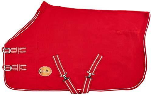 Nieuwe paard COB Pony Shetland Mini Red Show Travel Fleece tapijt 15,2 cm-6 3 '22,9 cm stabiele koeler keuze van maten (4' 7,6 cm).
