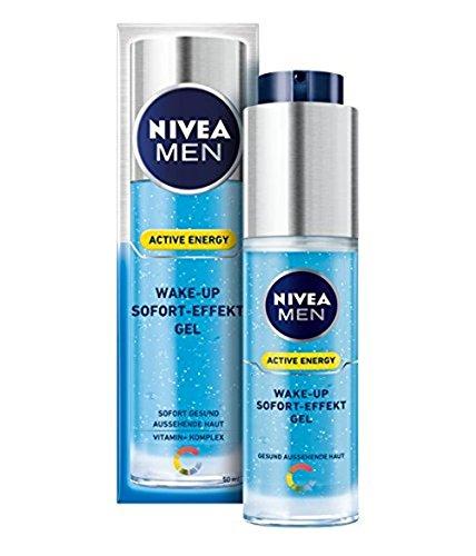 Nivea Men Active Energy, gel rinfrescante anti stanchezza per uomo, spruzzatore 50ml, gel a effetto immediato, gel a effetto risveglio