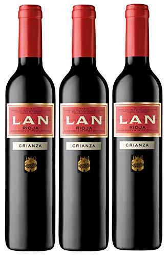 Vino Tinto LAN Crianza D.O.Ca. Rioja - 3 botellas de 500 ml - Total: 1500 ml