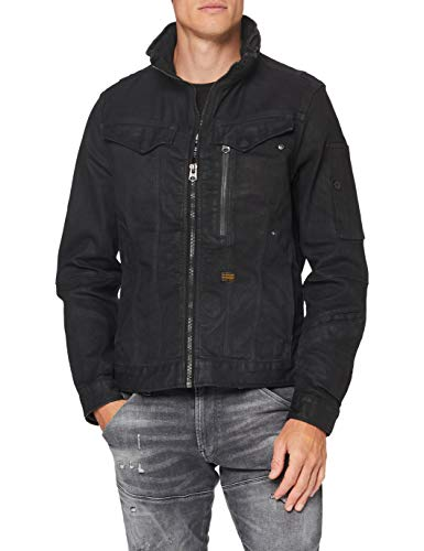 G-STAR RAW Mens Citishield Zip JKT Originals Denim Jacket, Waxed Black Cobler wp B479-B879, Large