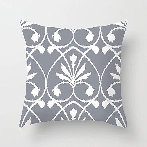 PPMP Funda de Almohada de Tiro Gris nórdico Funda de cojín geométrico Floral Retro para la decoración del sofá del hogar Funda de Almohada Funda de cojín A9 45x45cm 2pcs