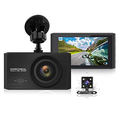 KOSCHEAL Dash Cam 1080P Full HD, Cámara de Coche 3″ Pantalla con 170° Gran Ángulo, WDR, G-Sensor,…