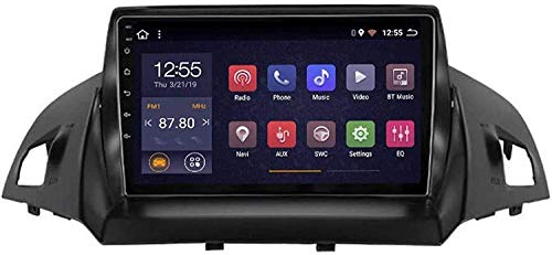 Compatible Para Ford Kuga 2013-2017 SAT NAV Android 10.0 Unidad De Cabeza FM Radio Receptor Auto Audio Player MP5 Coche Estéreo De 9 Pulgadas Pantalla Táctil Navegación GPS,4 core 4G+WiFi 2+32GB