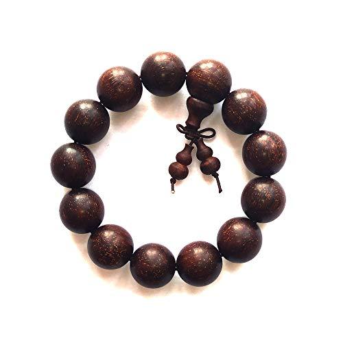 High Density Full of Stars red Sandalwood Wooden Beads Bracelets Buddha Pearl Prayer Beads (18mm)