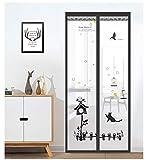 La salud y el confort en el hogar de verano cierran automáticamente la rejilla de encriptación de la cortina de malla magnética pantalla de la puerta anti mosquitos A1 W120xH210