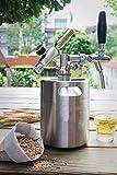 Sistema di barili di birra: distributore di birra cola in acciaio inossidabile 2L / 3,6L / 5L / 8L opzionale, sistema di produzione della birra con kit rubinetto regolabile, utilizzato per bi(Size:2L)