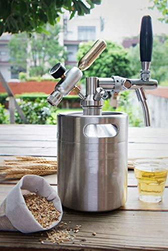 Sistema de barril de cerveza: dispensador de cerveza de cola de acero inoxidable 2L / 3.6L / 5L / 8L opcional, sistema de elaboración de cerveza con kit de grifo ajustable, utilizado para c(Size:3.6L)