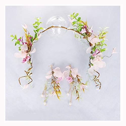 LYM Bandeau Fleur Guirlande Fleurs Accessoires De Cheveux Mariage Festival De Mariée (Couleur : A)