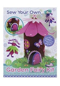PMS Naai je eigen tuinfee-kit - tuinhuis en feeën - leeftijden 8+ - knutselset voor meisjes