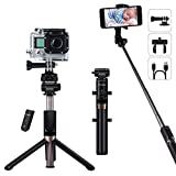 YOKKAO Certified IP66 Waterproof Bluetooth Tripod Selfie Stick Portable Foldable Compatible with iPhone Xs MAX/XR/XS/X/8/8 Plus/Galaxy Note 9/S9/S9 Plus/Note 8/S8 Plus/LG More