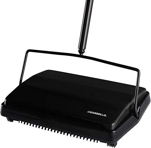 """Casabella Carpet Sweeper 11"""" Electrostatic Floor Cleaner - Black"""