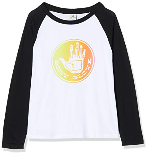 Body Glove Fader L/S Baseball tee Camiseta Manga Larga, Mujer, White/Black, M