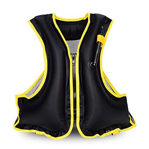 Schwimmweste für Erwachsene, Schwimmhilfe Schwimmwesten, Tragbare aufblasbare Schnorchel Flotation Sicherheitsjacke für Damen Herren, Schnorchelweste für Kajak Bootfahren, Schnorcheln Rettungsweste