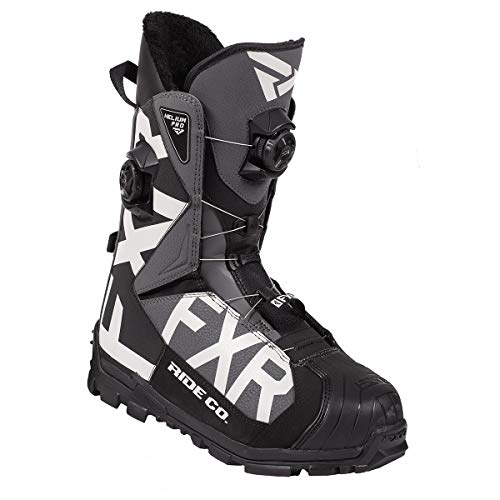 FXR Helium Pro BOA Boot 2020 (Black/Charcoal/Light Gray - Men's 11/EU 45)