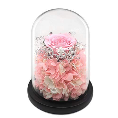 LZL Rosa preservada Caja de Regalo de Flores con conservación de Corona preservada Real Rose Aniversario Mejor Amigo Novia Creatividad Festival Adornos de Regalo Rosa eterna (Color : A)