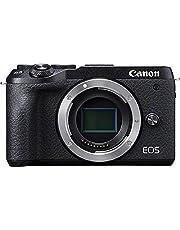 Canon Camera ES EOS M6 Mark II, Cámara Mirrorless de 32.5 MP (sensibilidad ISO de hasta 25600, 14 fps, vídeo 4K y Full HD de hasta 120 fps, Bluetooth, Wi-Fi), Tamaño Único, Negro