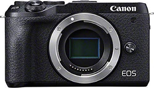 Canon EOS M6 Mark II Systemkamera (32,5 Megapixel, APS-C CMOS Sensor, 7,5 cm (3,0 Zoll) Touchscreen LCD, Display, Digic 8, 4K Video, WLAN, Bluetooth) Gehäuse Body schwarz