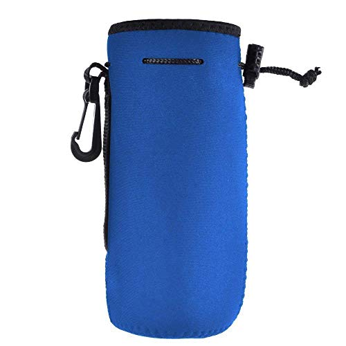 BASELIFE Funda para botella de agua de neopreno para botella de agua de 550 ml, ideal para botellas de acero inoxidable y plástico, bebidas deportivas y energéticas (azul)