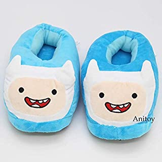 27cm (10.6 inch) - Adventure Time with Finn and Jake Finn Jack Plush Slippers Soft Toys Home Indoor Floor Winter Women Men Plush Shoes (B)
