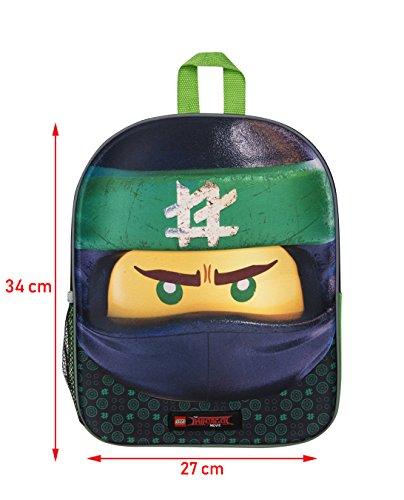 41N3qDRMOQL - Mochila 3D Lego Ninjago Green Ninja para Niños Escuela Viaje