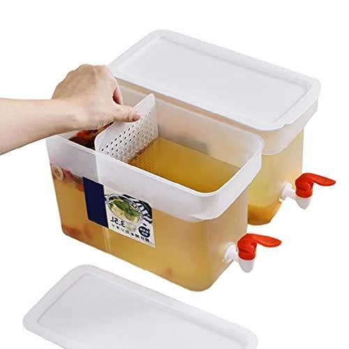 Suministro de cocina Refrigerador Tetera Verano Hogar Taza de agua de alta temperatura Olla Cubo de agua fría Botellas de burbujas frías Dispensador de bebidas con tapa pp con grifo para tazas