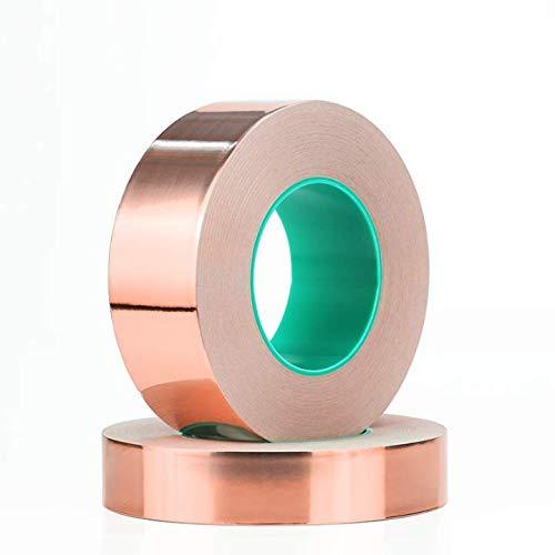 Cinta adhesiva de cobre de doble cara para protección de plantas, repelente...