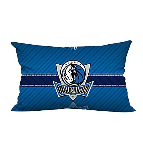 Mavericks - Almohada larga de baloncesto para decoración del hogar, cojín de felpa, 50 cm x 70 cm