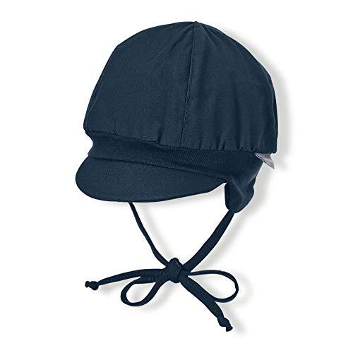 Sterntaler Ballonmütze für Jungen mit Bindebändern und Ohrenklappen, Alter: 9-12 Monate, Größe: 47, Blau (Marine)
