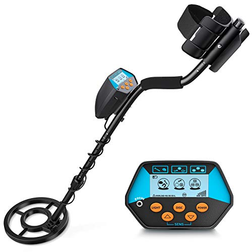 Tilswall Metal Detector Professional for Adults & Kids, High Accuracy Adjustable Metal Detector Waterproof with LCD Display, All Metal &Disc Mode, 8.5 Inch Lightweight Search Coil