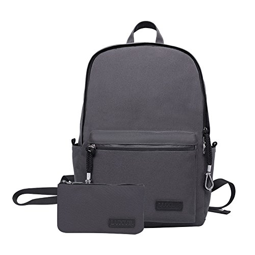 LUXUR Casual Laptop Backpack School Business Waterproof Hiking Daypack Fit 15 Inch Computer/Tablet/Laptop Unisex Grey