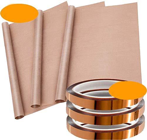 INTVN Cinta adhesiva de alta temperatura, Papel de Horno,resistente al calor, cinta...