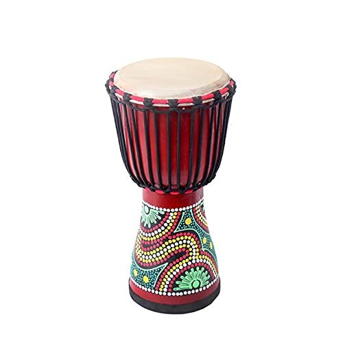 FUDAGJ Musikinstrument Red Elephant Pattern Hollow Wood African Tamburin National Percussion Instrument (Color : Color2, Größe : 25 * 50)