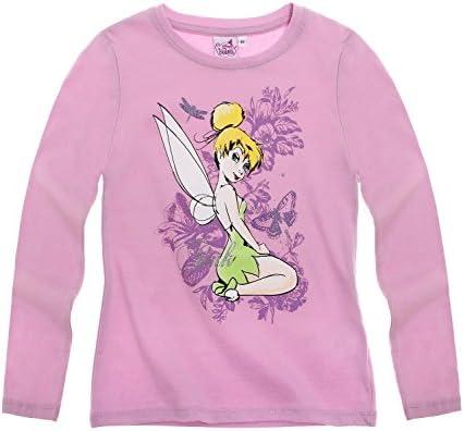 Disney Tinker Bell Niñas Manga Larga Camiseta, color malva