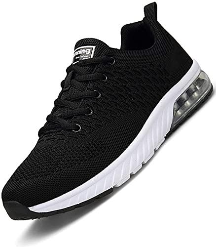 Hombre Aire Zapatillas Trail Running Mujer Deportivas para Caminando Transpirable Antideslizante Sneakers Negro 40 EU